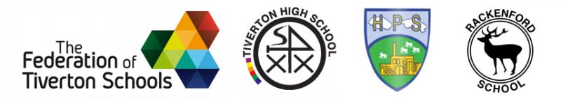 The Federation of Tiverton schools logos