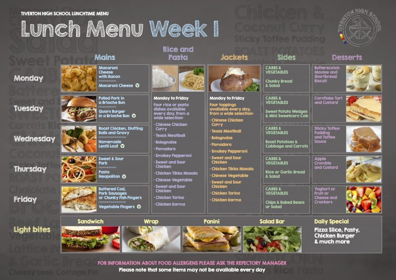 lunch menu week 1