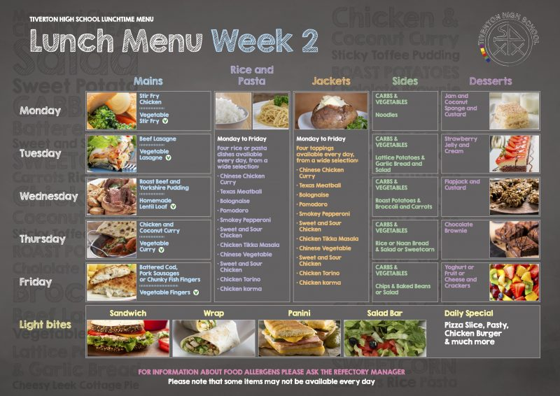 lunch menu week 2